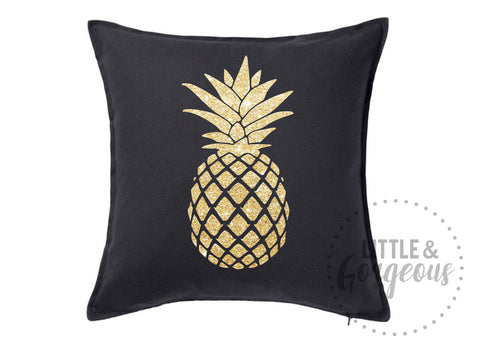 Pineapple Pillow Pineapple Throw Pillow Glitter Pillow Pineapple Nursery Pineapple Room Decor Black Pineapple Pillow Pineapple Throw