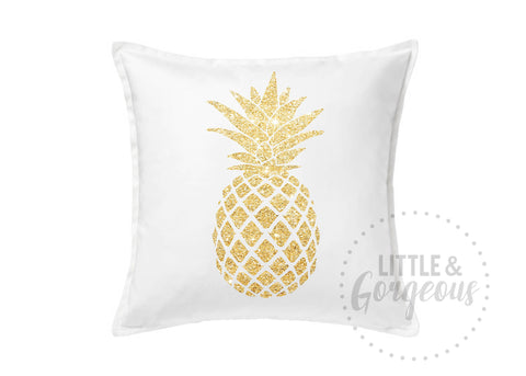Pineapple Gold Glitter Pillow Pineapple Throw Pillow Girls Nursery Pillow Pineapple Nursery Pineapple Room Decor White Pineapple Pillow