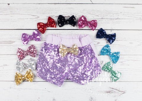 Girls Purple Sparkle Shorts, Purple Sequin Shorts, Girls Sparkle Shorts, Girls Sequin Shorts, Glitter Shorts, Sequin Shorts, BIrthday Shorts