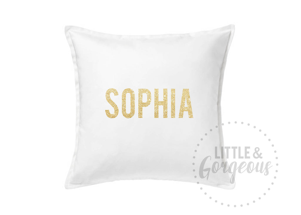 Personalized Throw Pillow, Glitter Throw Pillow, Girls Nursery Pillow, Personalized Nursery, Pillow Decor, Glitter Name Pillow