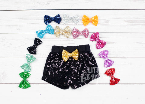 Girls Black Sparkle Shorts Black Sequin Shorts Girls Sparkle Shorts Girls Sequin Shorts Glitter Shorts Sequin Shorts Black Shorts