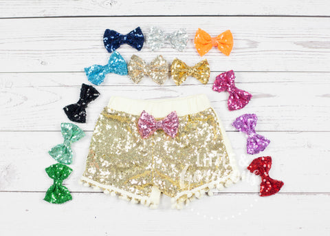Girls Gold Birthday Sparkle Shorties Gold Sequin Shorts Girls Sparkle Shorts Glitter Shorts Sequin Shorts Gold Shorts