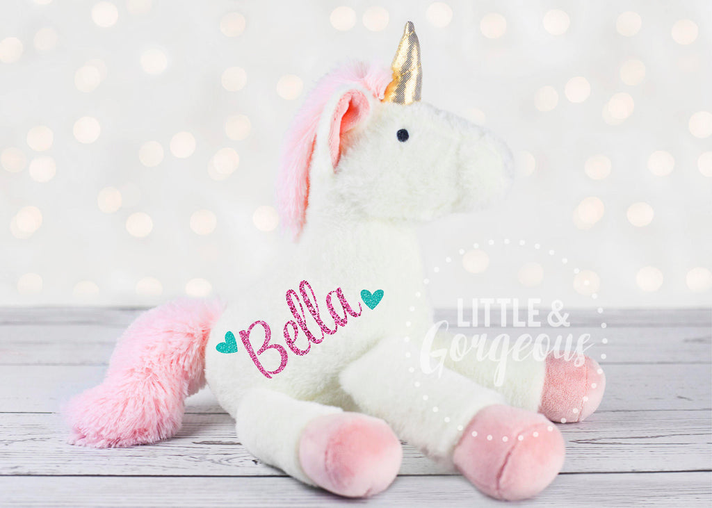 Baby Girl Personalized Unicorn Plush Unicorn First Birthday Christmas Unicorn Gift Birthday Unicorn Gift Flower Girl Birthday Girl