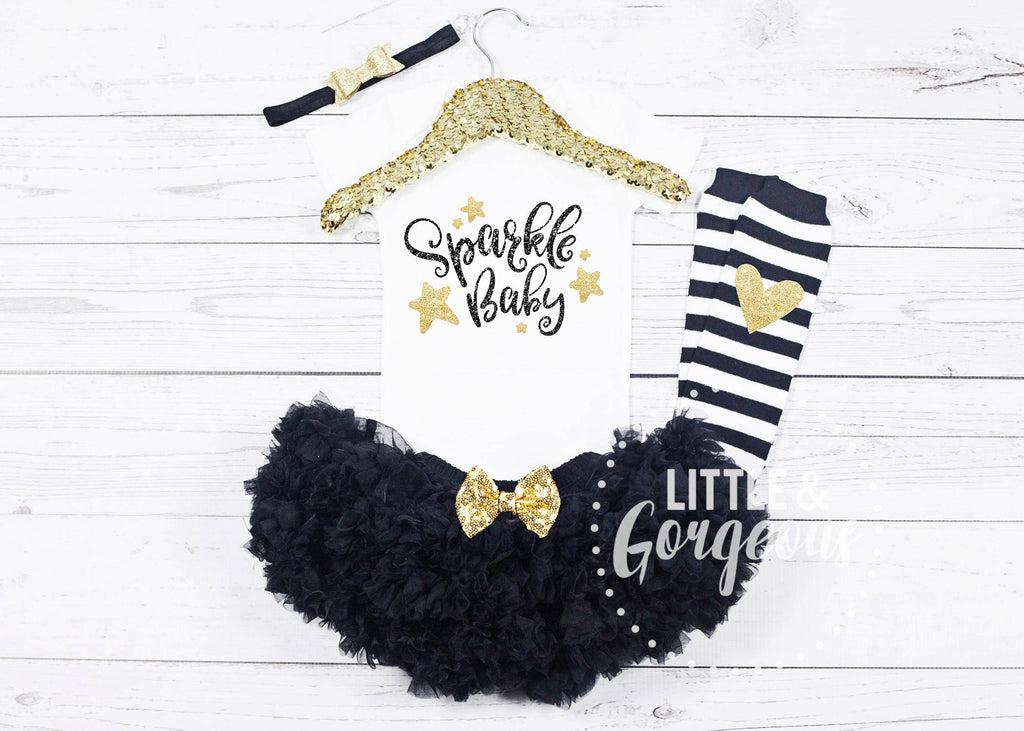 Baby Girls My First New Years Outfit 1st New Years Onesie Sparkle Baby
