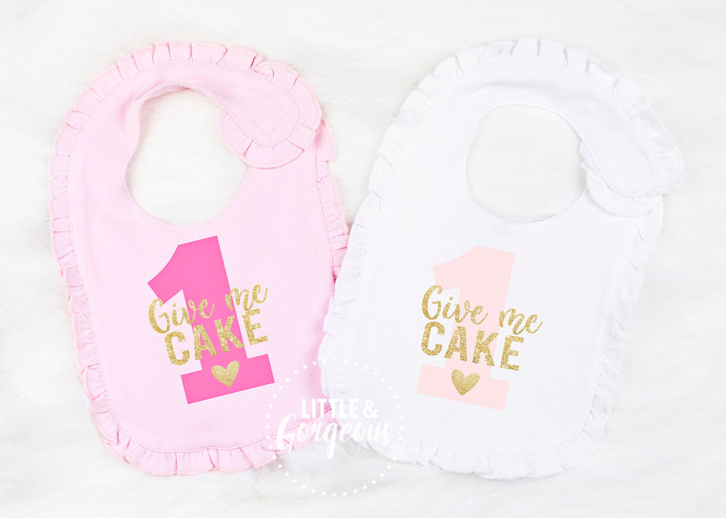 First Birthday Outfit Girl First Birthday Bib Girls First Birthday Birthday Bib 1st Birthday Cake Smash Girls Give Me Cake Bib