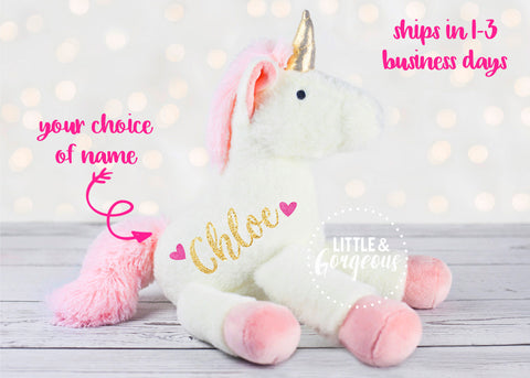 Baby Shower Personalized Unicorn Plush Girl Unicorn Toy Unicorn Birthday First Birthday Unicorn Baby Gift Unicorn Flower Girl Birthday