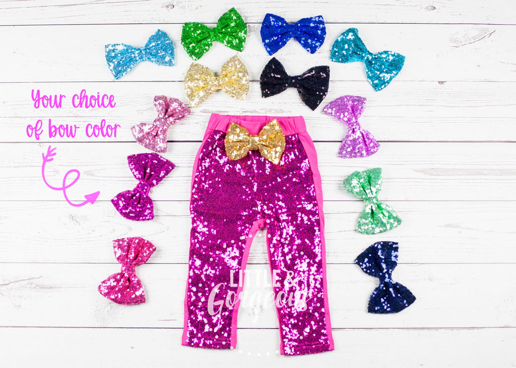 Girls Pink Sparkle Pants Hot Pink Sequin Pants Girls Sparkle Leggings Girls Sequin Leggings Glitter Pants Glitter Leggings, Pink Pants