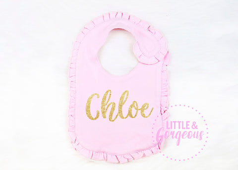 Baby Girl Going Home Outfit - Newborn Bib Outfit - Newborn Baby Shower Gift - Coming Home Outfit, - Personalized Baby Gift, Baby Girl Bib