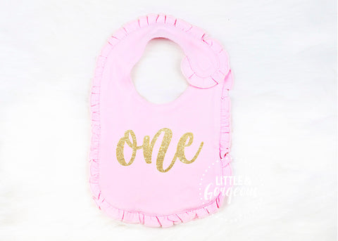 First Birthday Outfit Birthday Bib 1st Birthday Cake Smash Glitter Birthday Bib Gold Birthday Girls First Birthday Birthday Girl