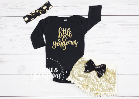 Baby Girl Bodysuit Outfit Baby Girl Clothes  Little and Gorgeous