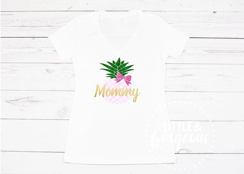 Pineapple Birthday Mommy Shirt 1st Birthday Girl Outfit Aloha Birthday Mommy Pineapple Shirt Pineapple First Birthday Mommy and Me