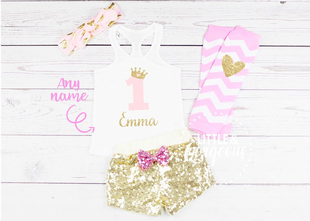 First Birthday Outfit Girl 1st Birthday Outfit Baby Girl Birthday 1st Birthday Pink Gold Birthday