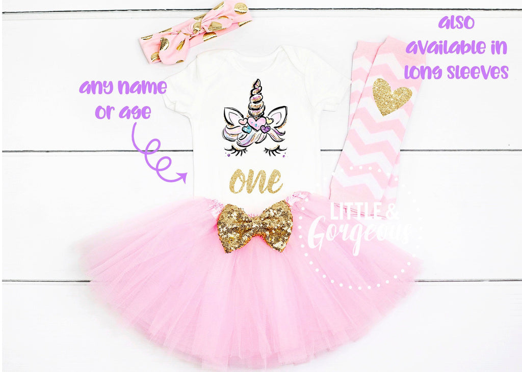 First Birthday Outfit Girl Unicorn First Birthday Girl Outfit First Birthday Outfit 1st Birthday Girl Cake Smash Outfit Unicorn Party