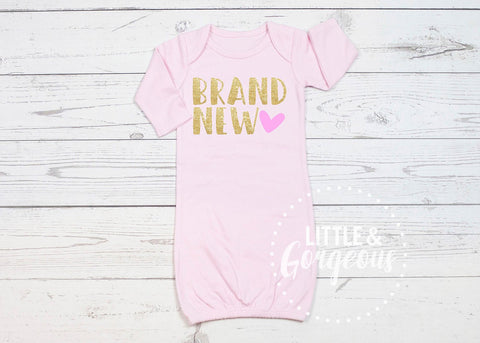 Girls Going Home Newborn Outfit Brand New Newborn Gown Baby Shower Gift Coming Home Outfit