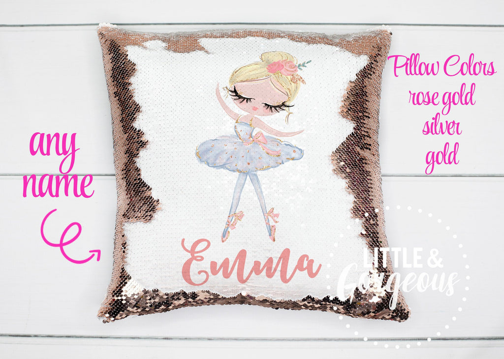 Personalized Sequin Pillow Ballerina Pillow ballet pillow ballerina room decor ballerina gift girls ballet gift ballet birthday girls room