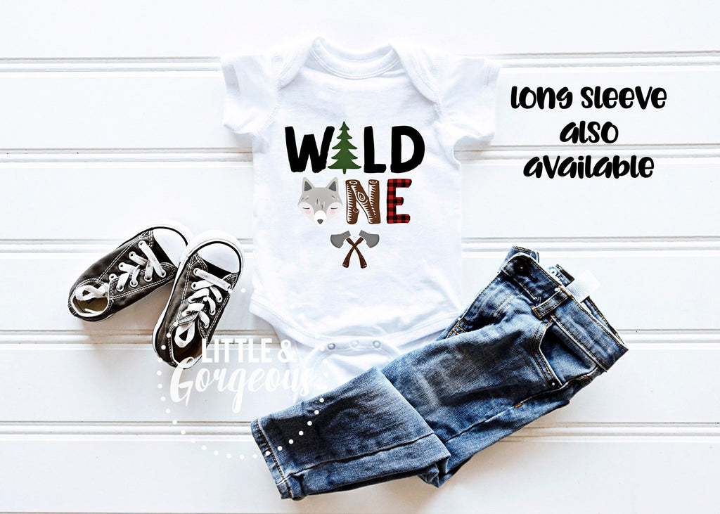 Boys First birthday, Wild One woodland first birthday outfit, Boys 1st birthday, Boho animal first birthday, Woodland Birthday Onesie
