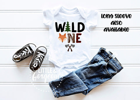 Boys First birthday - Wild One woodland first birthday outfit - Boys 1st birthday - Boho animal first birthday - Woodland Birthday