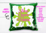 Personalized Slime Queen Sequin Pillow Girls Sequin Pillow Gift for her Mermaid Pillow Girls Room Decor Pillow Slime Birthday Slime Girl