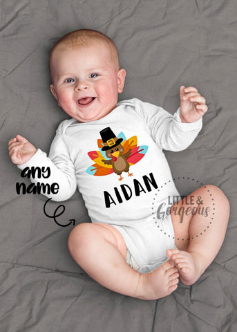 Boys Thanksgiving outfit boys Turkey shirt baby boy turkey outfit boy Thanksgiving outfit Personalized Thanksgiving shirt boys turkey outfit