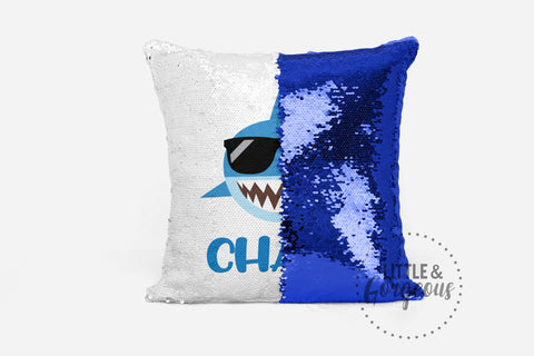 Personalized Sequin Pillow Dinosaur Reversible Sequin Mermaid Pillow Gift for Boy Pillow Boys Room Decor Pillow Form