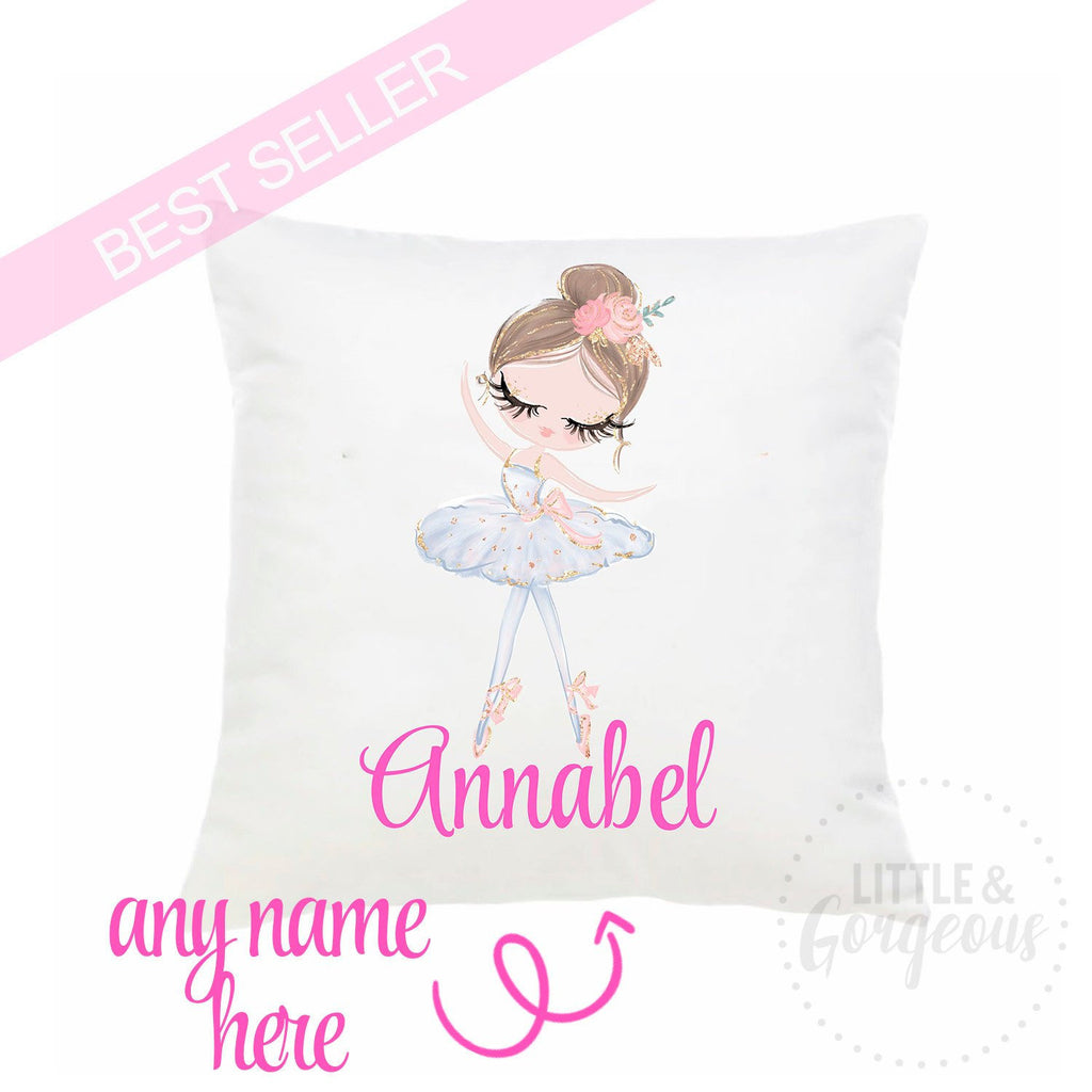 Ballet Pillow Personalized Ballerina Throw Pillow Girls Nursery Pillow Ballet Nursery Ballerina Decor Ballerina Birthday Ballet Birthday