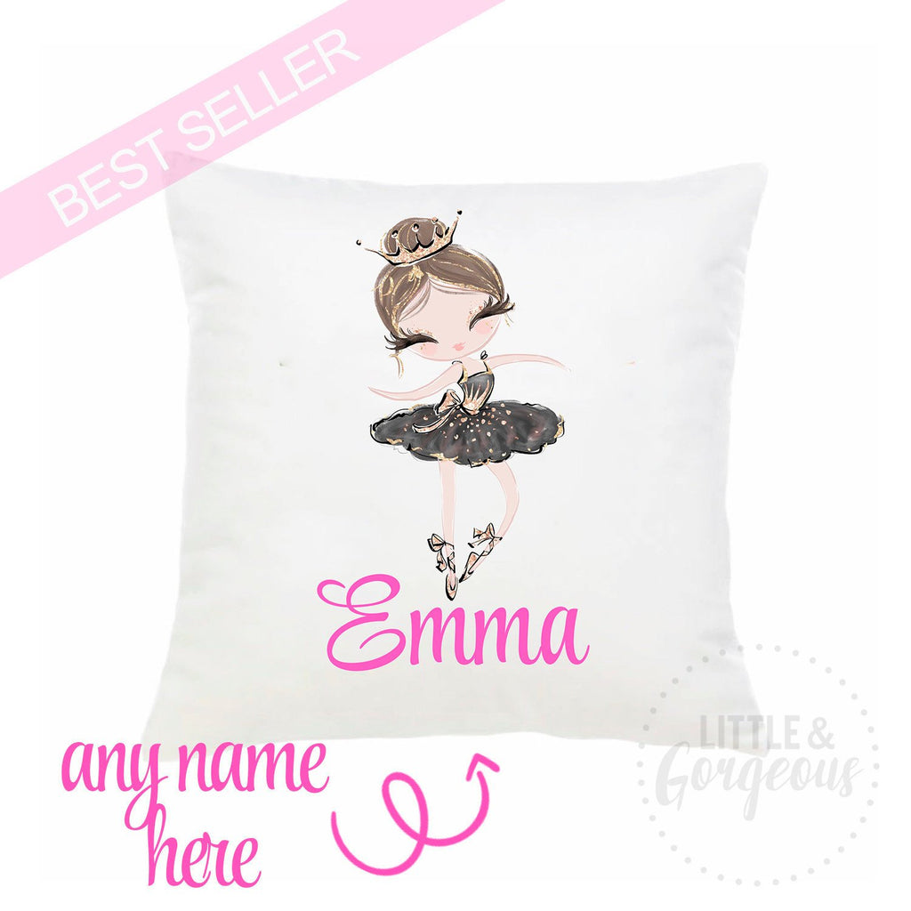 Personalized Ballerina Pillow Ballet Throw Pillow Girls Nursery Pillow Ballet Nursery Ballerina Decor Ballerina Birthday Ballet Birthday