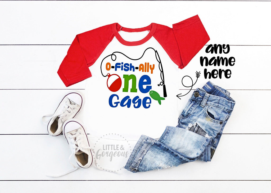 O Fish Ally One Boys First Birthday 1st Birthday Shirt Fishing First Birthday Shirt Fishing First Birthday Outfit The Big One Birthday Shirt