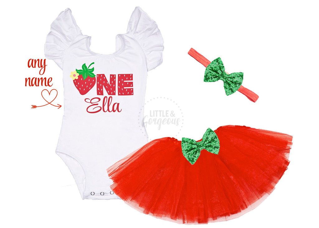 Strawberry First Birthday Outfit Sweet One Birthday Shirt Strawberry Shortcake Birthday Personalized Birthday Outfit Girls 1st Birthday