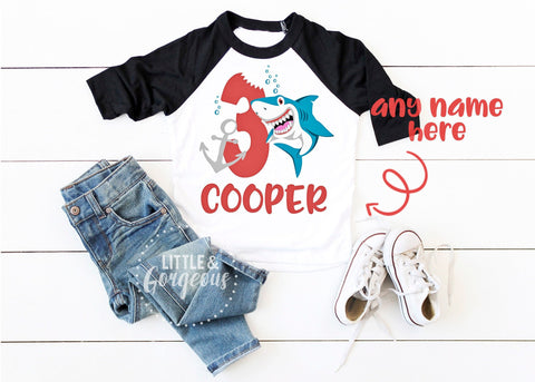Boys 3rd Birthday Shirt Boys Third Birthday Shark Raglan Boys Shark Personalized 3rd Birthday 3 Birthday Boys Birthday 3rd Birthday Outfit