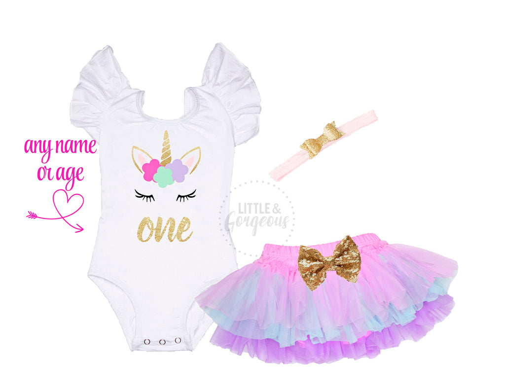 Unicorn First Birthday Outfit 1st Birthday Outfit Unicorn Birthday Baby Girl One Birthday 1st Birthday Unicorn Rainbow Tutu