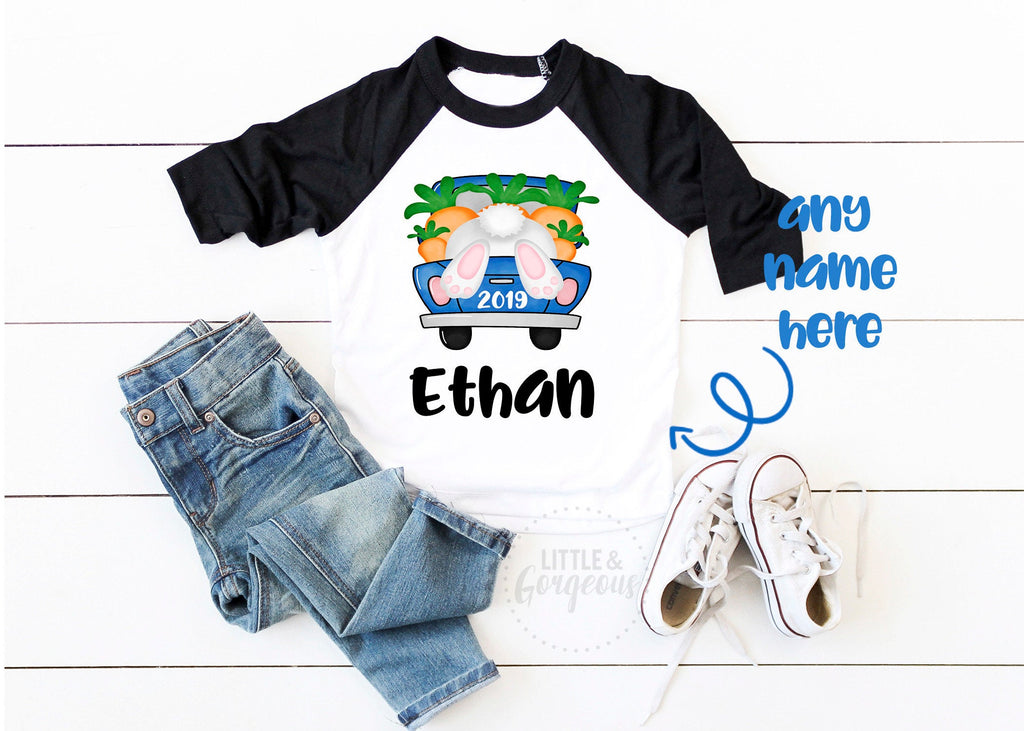 Boys Easter Shirt Boys Easter Outfit First Easter Outfit Boys 1st Easter Bunny Personalized Easter Raglan Shirt My First Easter Bunny Shirt