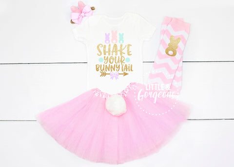 Girls First Easter Outfit Girl Easter Bunny 1st Easter Girl Outfit Bunny Tail First Birthday Outfit 1st Birthday Easter Onesie Easter Shirt