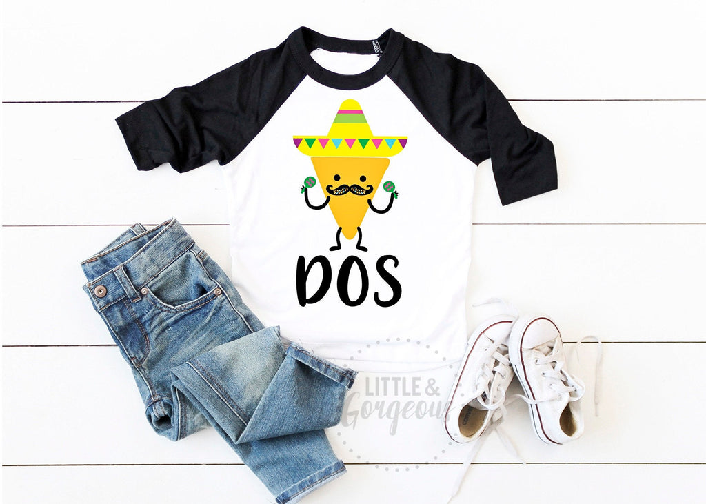 Dos Second Birthday Dos 2nd Birthday Shirt Boys Dos Shirt Boys Taco Two Birthday Taco Birthday Mexican Birthday Shirt Fiesta Second Shirt