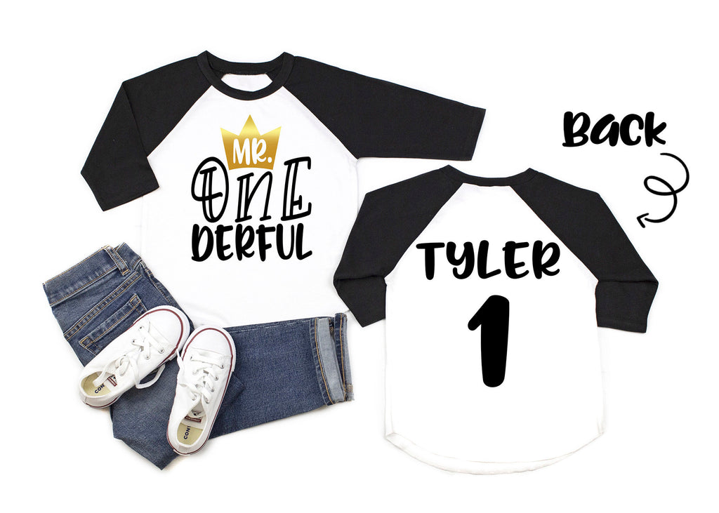 Boys First Birthday Shirt Boys First Birthday Raglan Baby Boy First Birthday Outfit Baby Boy First Birthday Shirt Mr Onederful Wild Things