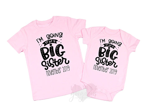 Big Sister Shirt Big Sister Announcement I'm Going to be a Big Sister Promoted to Big Sister Big SisterTo Be Pregnancy Announcement