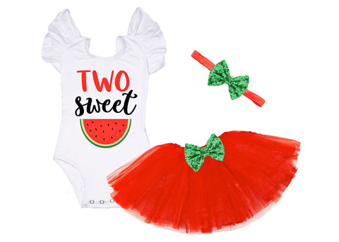 Girls Second Birthday Outfit Two Sweet 2nd Birthday Outfit Watermelon Baby Girl Two Birthday 2nd Birthday Watermelon Birthday Two Sweet
