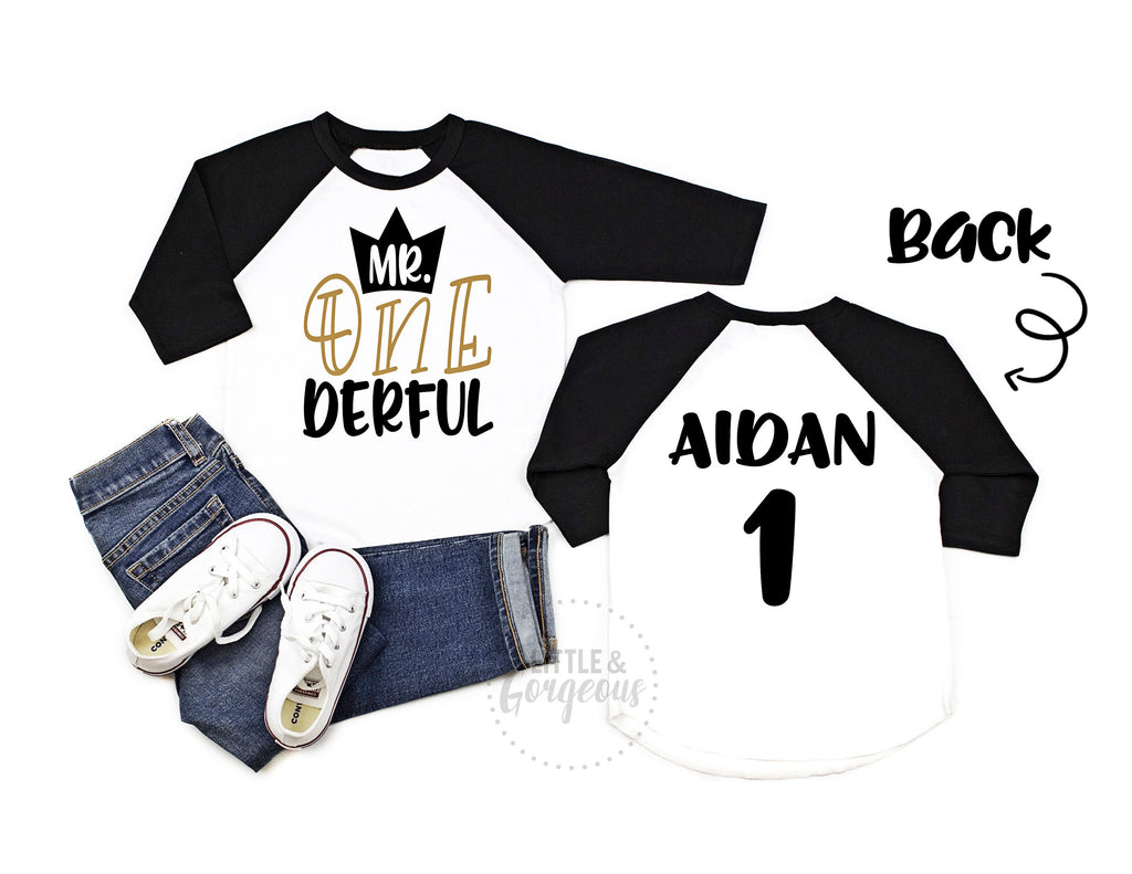 Boys First Birthday Shirt Boys 1st Birthday Shirt Mr Onederful 1st Birthday Outfit Boys Prince Birthday Shirt Wild Things birthday shirt