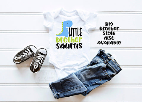 Little Brother Shirt Little Brother Saurus Little Brother Dinosaur Little Brother Announcement Little Brother Gift Big Brother Baby Gift