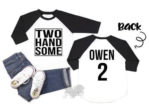 Boys Birthday Shirt Boys 2nd Birthday Shirt Mr Two Handsome 2nd Birthday Raglan Boys Birthday Shirt Wild Things birthday shirt