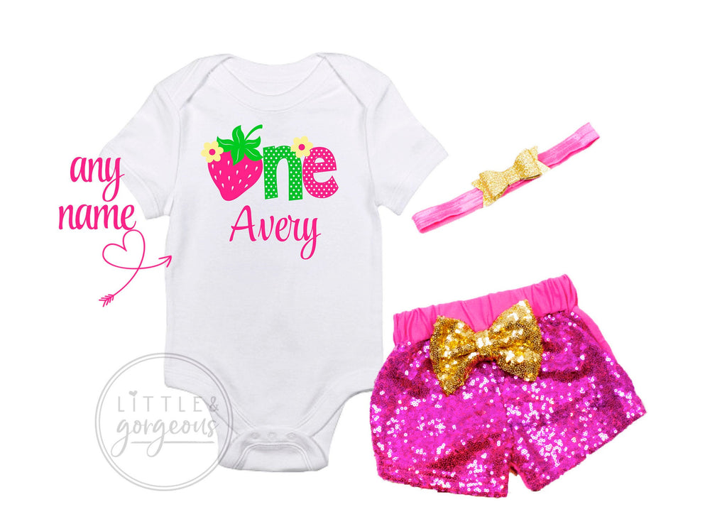 First Birthday Outfit Girl Strawberry Sweet One Birthday Shirt Strawberry Shortcake Birthday Personalized Birthday Outfit Girls 1st Birthday
