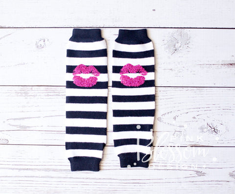 Baby Legwarmers, Black White Striped Leg warmers, Kids Striped Legwarmers, Glitter Legwarmers, Birthday Outfit