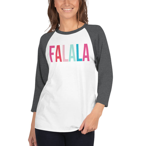Falala Women's 3/4 sleeve raglan shirt