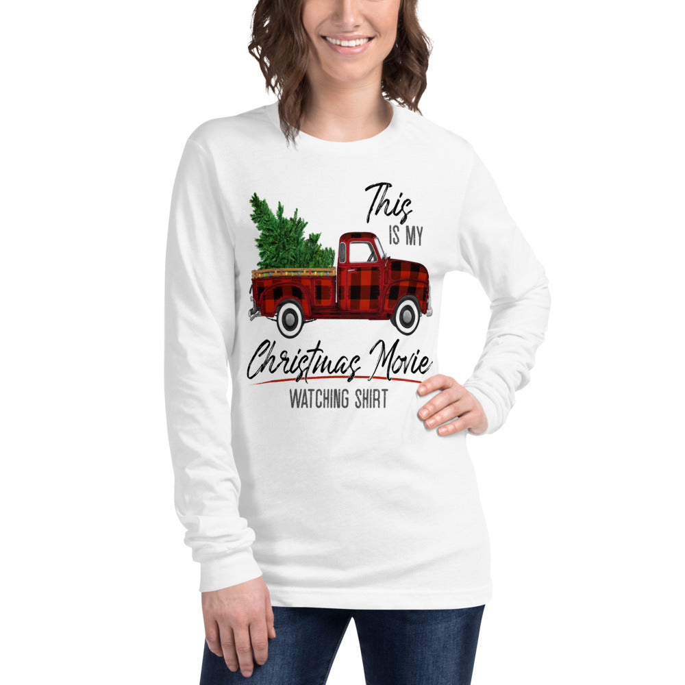 This is My Christmas Movie Watching Shirt Unisex Long Sleeve Tee