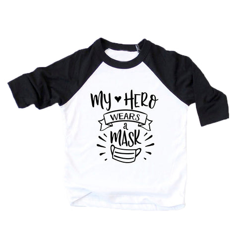 My Hero Wears a Mask Kids Tshirt