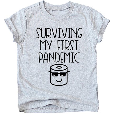 Surviving My First Pandemic Funny Kids Tshirt