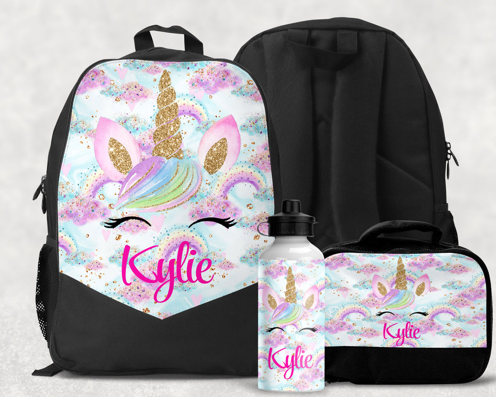 Girls Personalized Unicorn Backpack Monogrammed Book bag