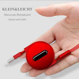 Multi USB Kabel,Einziehbares Ladekabel 3 in 1 Micro Type C Kompatibel für iPhone Android Smartphone