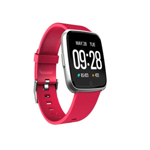 Smart Tersa Fitness Tracker Heart Rate Monitor Red