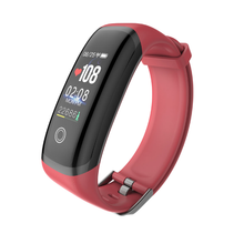 Load image into Gallery viewer, PK3 Fitness Tracker Red Bracelet with Heart Rate Monitor sensor with Black Outline