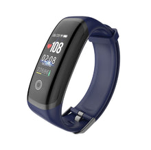 Load image into Gallery viewer, PK3 Fitness Tracker Bracelet with Heart Rate Monitor sensor Blue Marine